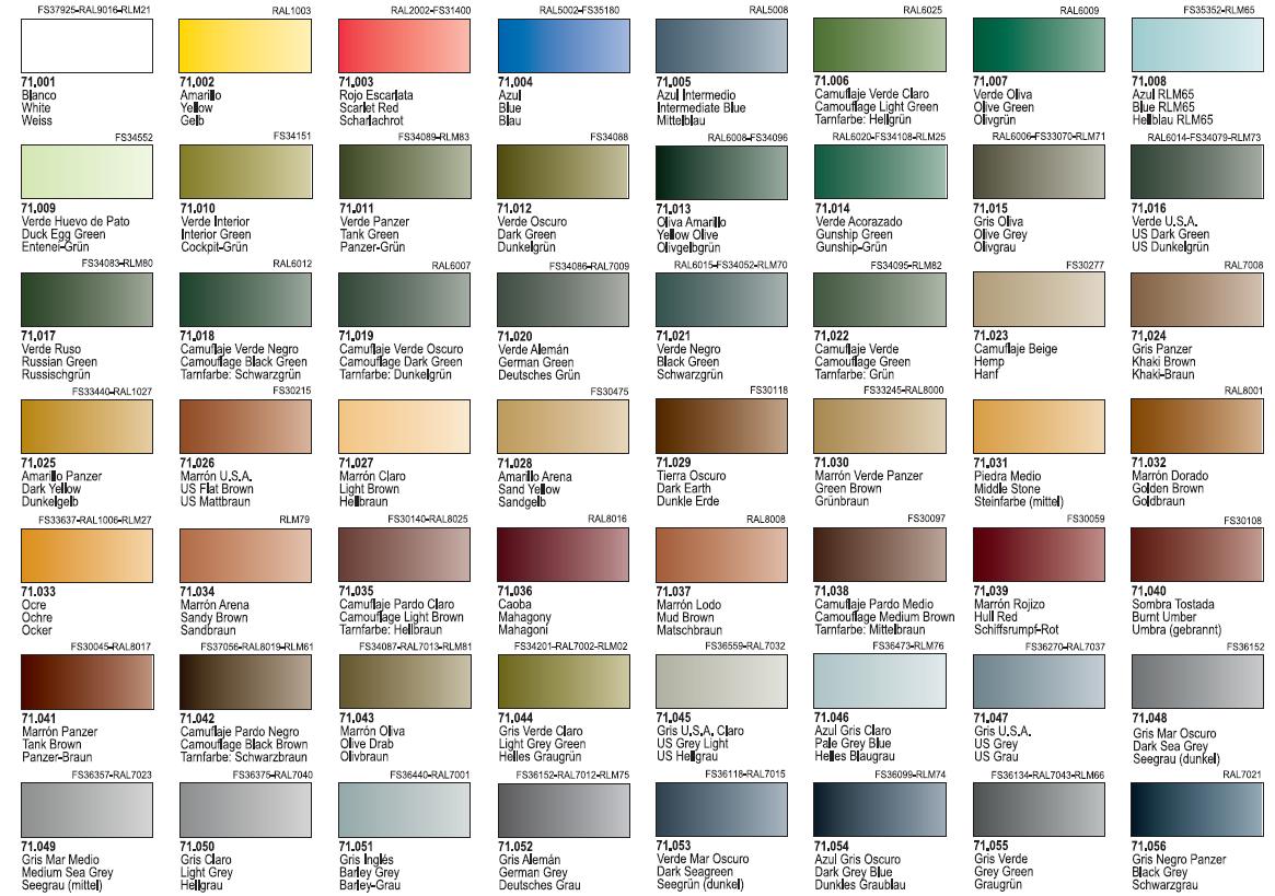 for Catalogo de colores de pinturas
