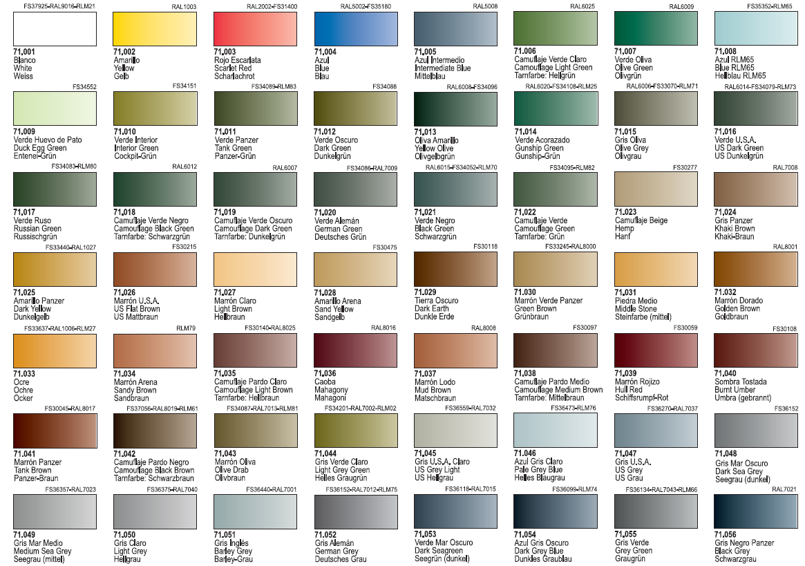 - Carta colores pintura pared ...
